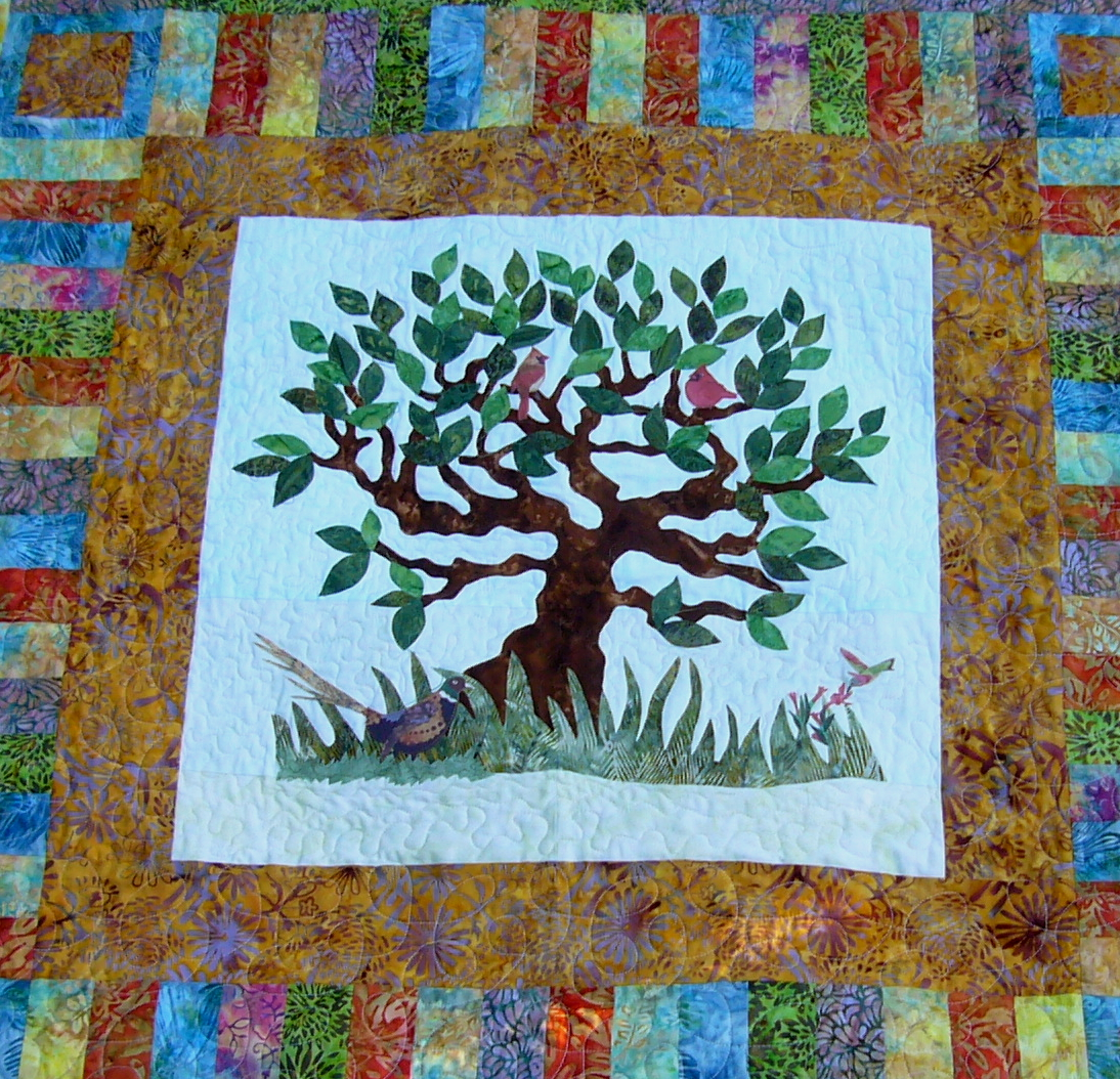 Tree Quilt Quilting With Patrice