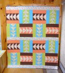 Finished Modern Goose Quilt