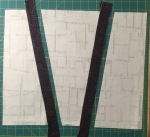 Sew the first set of strips