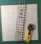 Line up the ruler where the marks are
